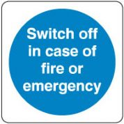Mandatory Safety Sign - Switch Off In Case 144